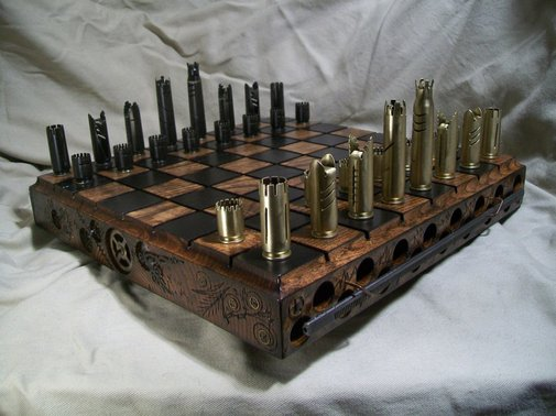This Perfect Man-Cave Chess Set is Made of Bullets | The Roosevelts