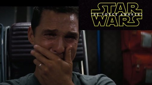 Mathew Mcconaughey's reaction to the new Star Wars trailer
