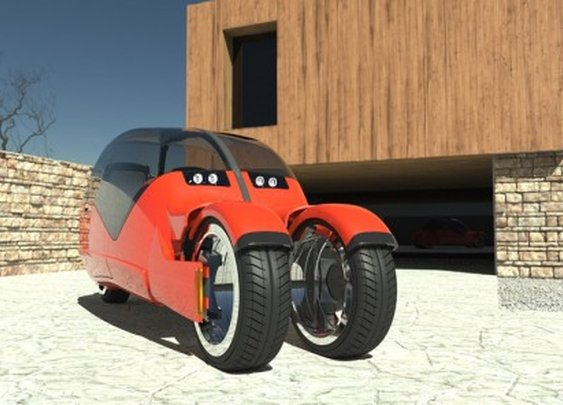 Lane Splitter concept car splits into two motorbikes
