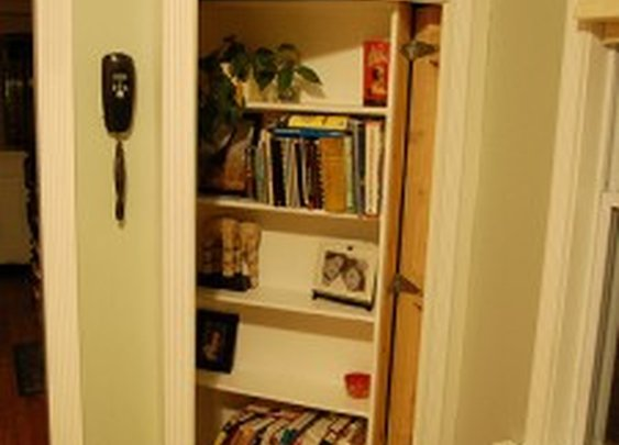 Secret Bookcase Door to Basement | StashVault