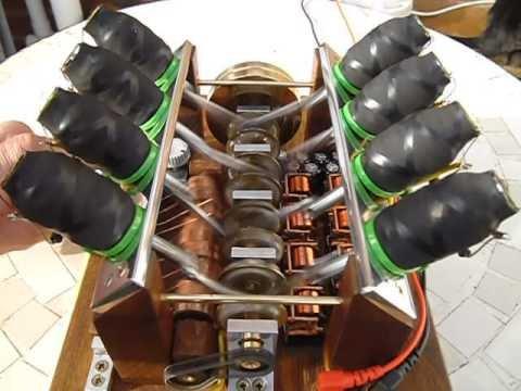 V8 solenoid engine - YouTube