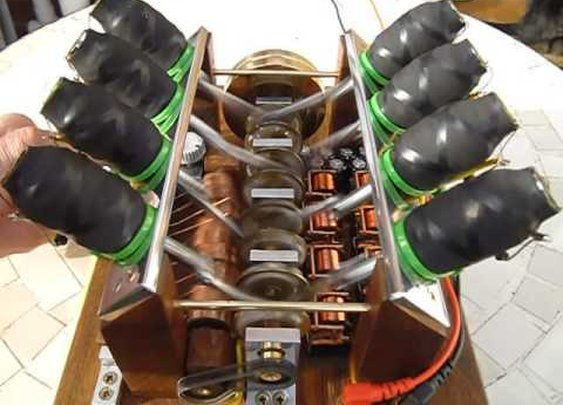 V8 solenoid engine - YouTube