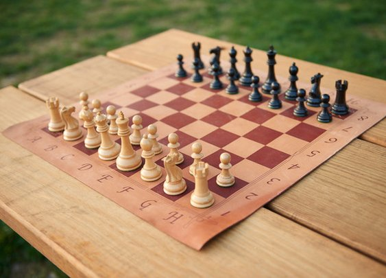 The Crusader Leather Chess Board – Conquest Leather