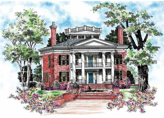 Plantation House Plan with 4000 Square Feet and 4 Bedrooms from Dream Home Source | House Plan Code DHSW45277