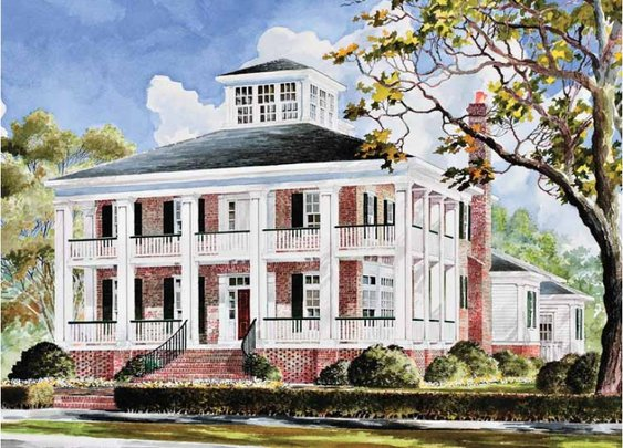 Plantation House Plan with 3655 Square Feet and 4 Bedrooms from Dream Home Source | House Plan Code DHSW55930