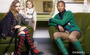 Pharrell Williams & Cara Delevingne for Chanel Paris-Salzburg Pre-Fall 15 campaign