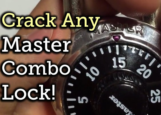 Break open any Master Combo Lock in 8 tries or less! - YouTube