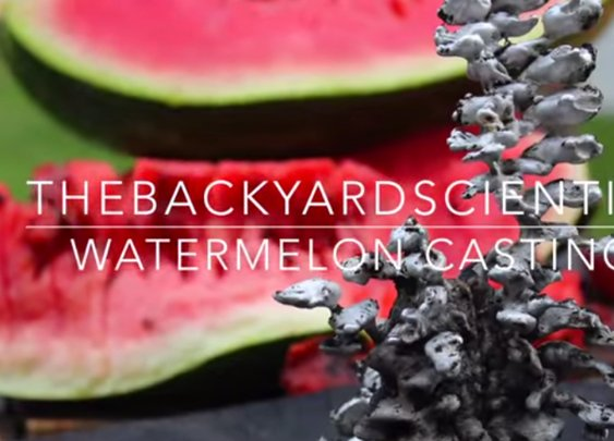 Watch It's CRAZY what happens when you pour molten aluminum in a watermelon @ Komando Video