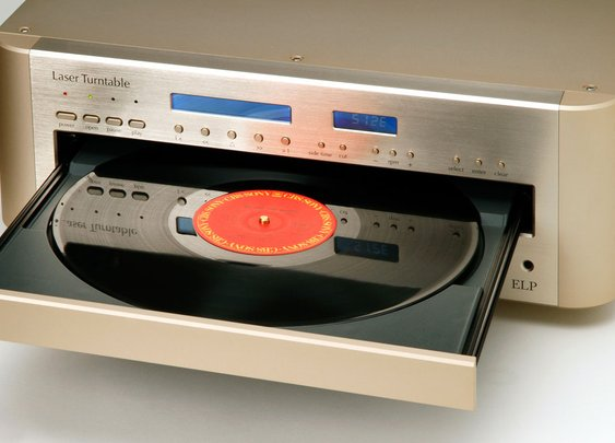 The EIP Laser Turntable plays records without touching them