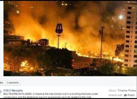 TV Station Uses Fake Baltimore Riot Photo from Venezuela