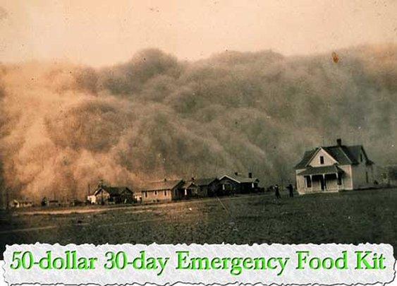 50-dollar 30-day Emergency Food Kit