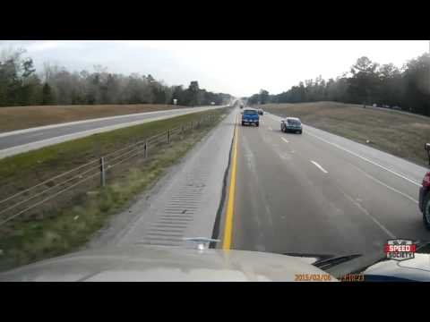 Red Neck trucker, says NO to this blonde trying to merge.. - YouTube