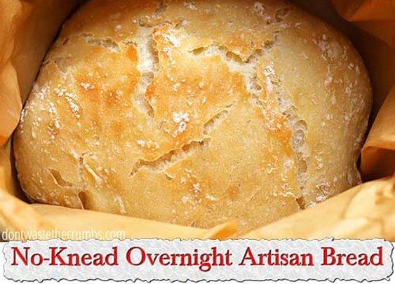 No-Knead Overnight Artisan Bread