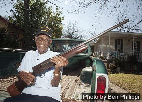 America's oldest living vet shows us his guns