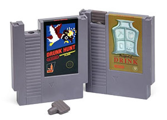 Gaming Cartridge Flasks | ThinkGeek