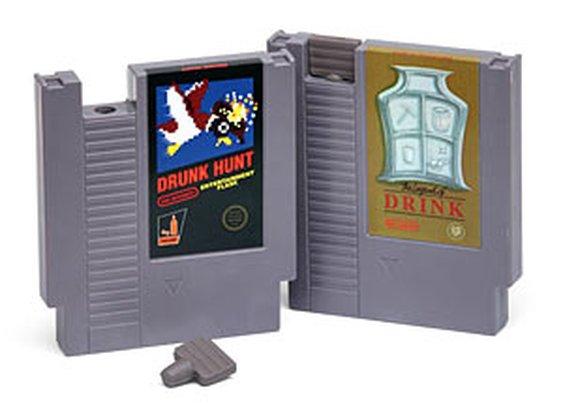 Gaming Cartridge Flasks | ThinkGeek