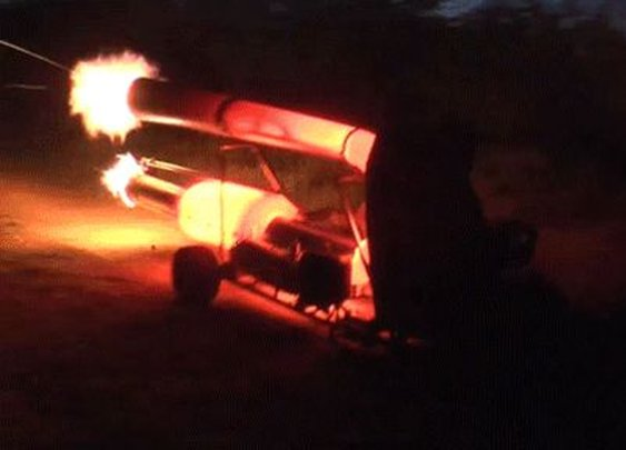 This Flame-Spitting Jet-Powered Go Kart Is The Ultimate Nutjob Machine