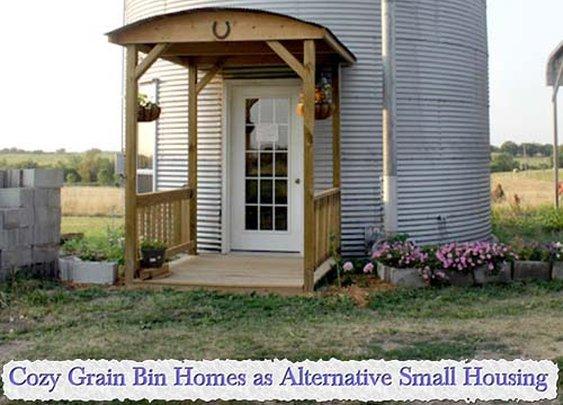 Cozy Grain Bin Homes as Alternative Small Housing