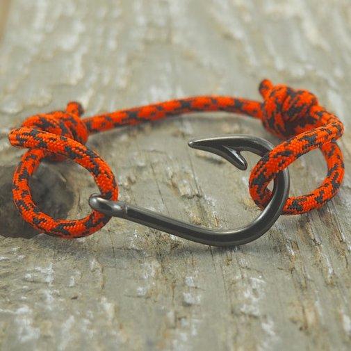 Fish Hook Bracelet Paracord Bracelet Mens by DesignedTurning
