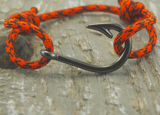 Fish Hook Bracelet Paracord Bracelet Mens by DesignedTurning