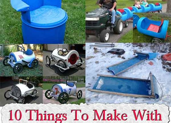 10 Things To Make With 55 Gallon Plastic Barrels