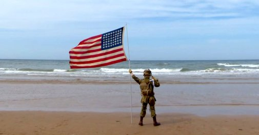 11-Year-Old Boy Held Salute For One Hour On This Beach. Who Joins Him At 5:02? Beautiful!
