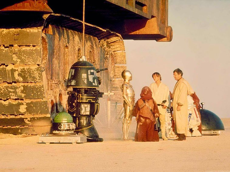 vintage everyday: 100 Rare Color Photos of Behind the Scenes from the Making Film 'Star Wars'