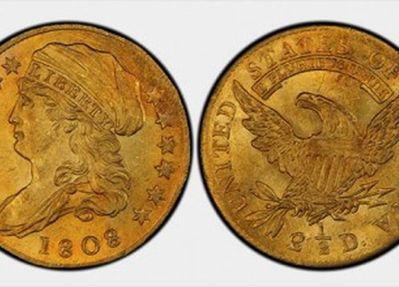 1808 Quarter Eagle Gold Coin fetches record price at auction $2.35 Million