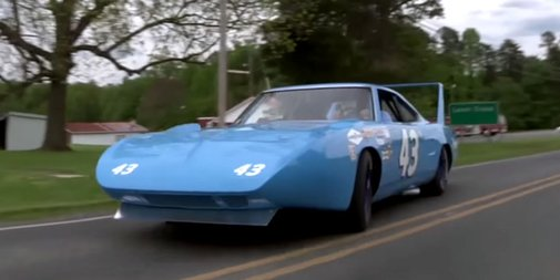 Watch Richard Petty's Superbird thunder down a rural road