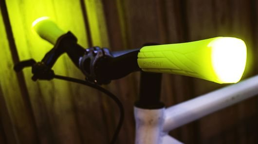 HueRay combines handlebar grips and side lights