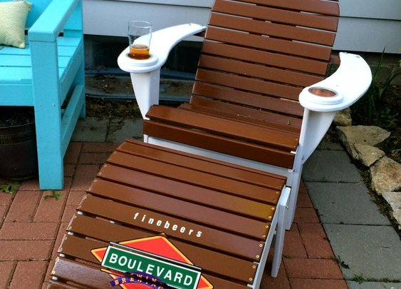 One-of-a-Kind Boulevard Brewing Co lawn chair