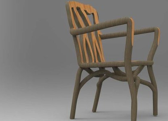Trees trained to grow into furniture