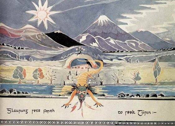 110 Drawings and Paintings by J.R.R. Tolkien: Of Middle-Earth and Beyond | Open Culture