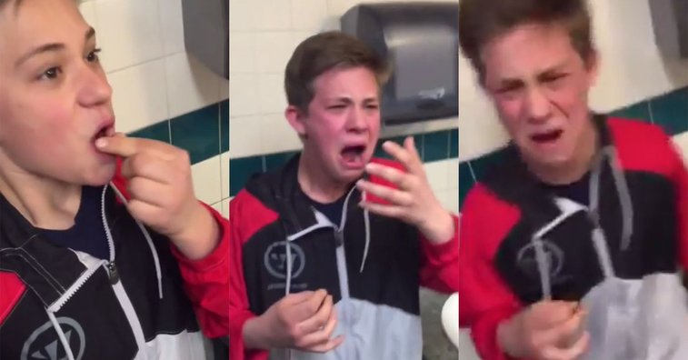Kid swallows a ghost pepper and reacts exactly how you'd expect