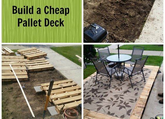 Any Man Can Do It: Build a Cheap Pallet Deck