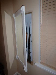 Hidden Gun Compartment Behind Mirror | StashVault