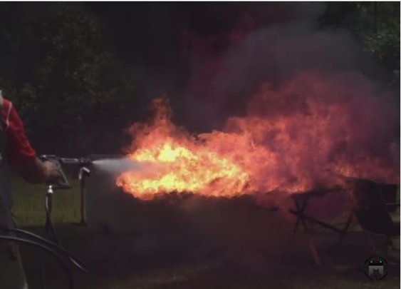 X15 Flame Thrower With Jerry Miculek