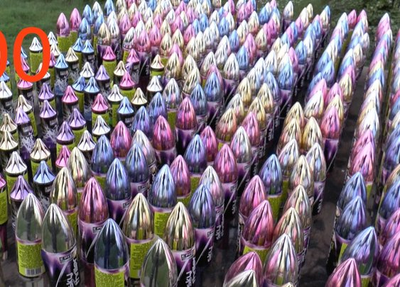 Setting off 300 Rockets ALL AT ONCE - YouTube