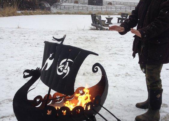 Make A Backyard Viking Ship Fire Pit