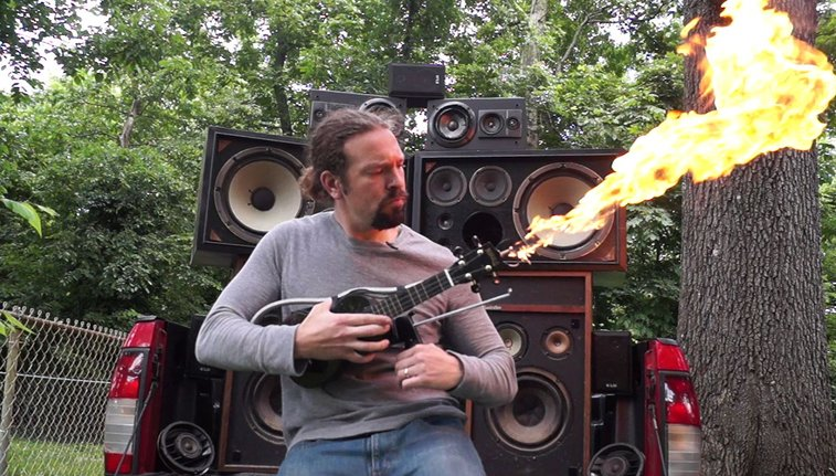 Make a Mad Max Doof Warrior Inspired Flamethrower Ukulele