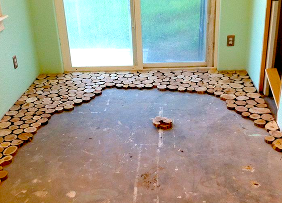 They Arranged Some Wooden Discs On Their Cold, Gross Floor. When They're Done? Incredible!
