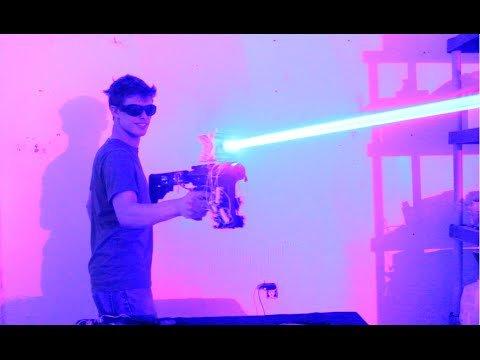 My Homemade 40W LASER SHOTGUN!!!!! - YouTube
