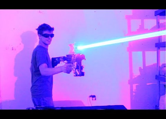 My Homemade 40W LASER SHOTGUN!!!!! - YouTube
