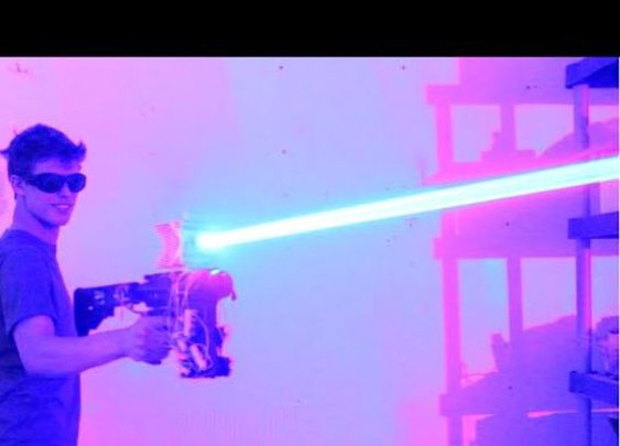This 40W Homemade Laser Shotgun Is Pure Insanity