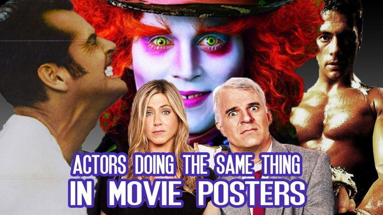 Movie Posters Featuring the Same Actors Doing the Same Things