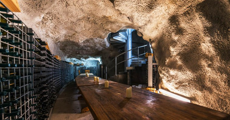 Someone Drilled A Secret 9-Story Deep Wine Cellar Into A Cliff And Now You Can Buy It For $3 Million   VinePair