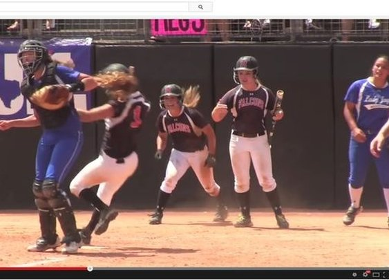 Video appears to show Texas high school softball catcher knock runners to ground | News - Home