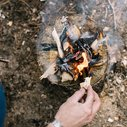 How To Build a Stove Out of a Log   Huckberry