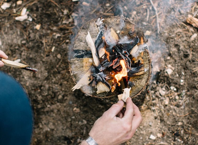 How To Build a Stove Out of a Log | Huckberry