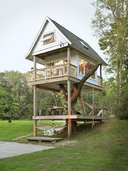 Camp Wandawega's Three Level Treehouse